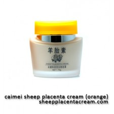 Caimei Sheep Placenta Orange - Whitening Foundation Cream
